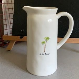 Ray Dunn Palm Tree Water Pitcher